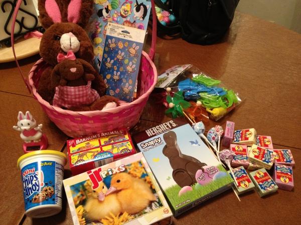 V's basket contents.